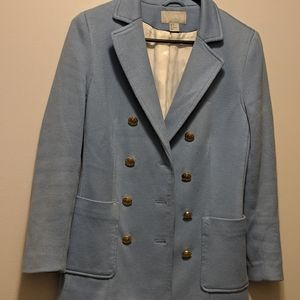 Thick baby blue blazer from h&m
